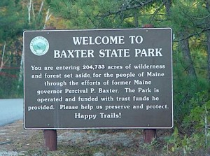 Trails and hiking / climbing information about Baxter Peak, Mt. Katahdin.