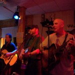 Phil Groves, Ray Pasnen & Kerrin Quinn on-stage at Pam & Ivy's in East Millinocket, Maine 04430.