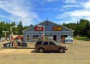 Big Apple Convenience Store on Main Street in Mattawamkeag, Maine 04459.