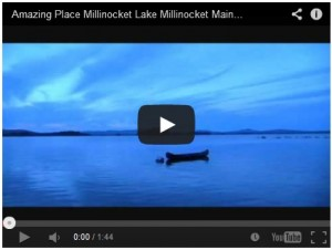 Sunset video of Millinocket Lake & Mt Katahdin.