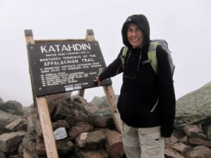 Roxanne Quimby summits Mount Katahdin in Maine.