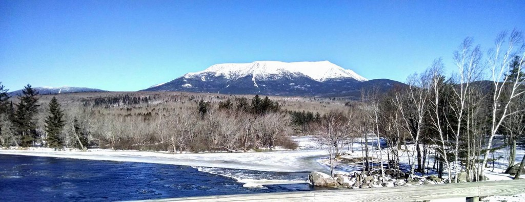 Photo from Abol Bridge of Mount Katahdin.