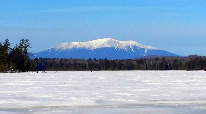 A big thank you to some friends of Mt-Katahdin.com for these recent photos of the mountain from various sites. Joey Austin and Keith Dionne snapped these photos in the last week and we have reprinted them here with their permission. Thanks again, guys! Looks like some good ice fishing weather in…