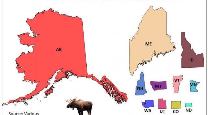 States scaled by moose population