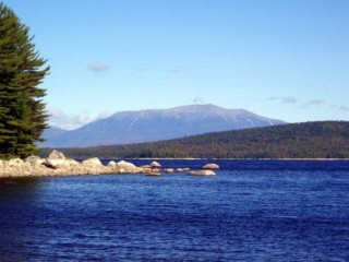 View of Mount Katahdin across South Twin Lake.