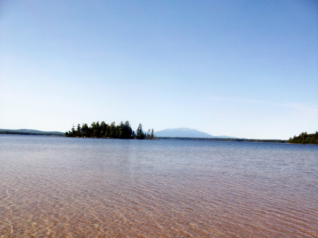 Mount Katahdin from Jo Mary Lake Beach.