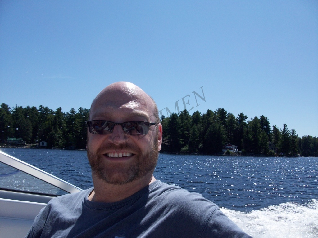 Me on Mark's boat on South Twin Lake.