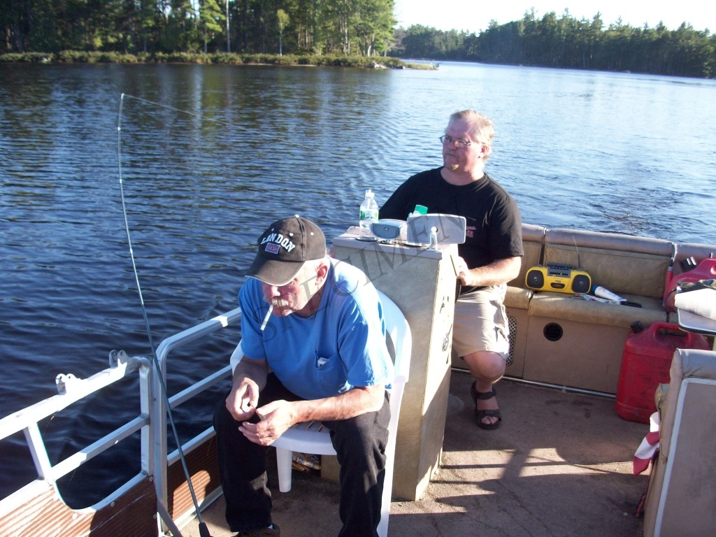 Millinocket Lake Fishing Ambi And Kevin on The Way Home After a Fishing Trip on Millinocket Lake