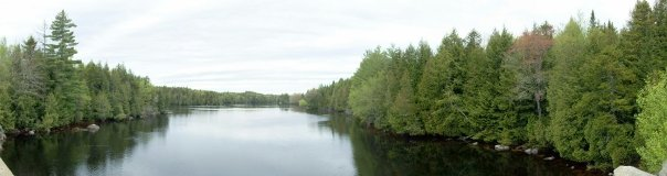 Pictures of the West Branch of the Penobscot River, Maine.