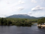 Photo of Mt Katahdin from Abol Bridge.