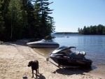 Jet Skis at South Twin Lake, Millinocket, Maine.