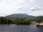 Mount Katahdin photogrphed from Abol Bridge.
