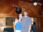 Sarah and I with Karen and Mark Emerson's Mounted Moose Head.