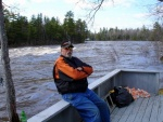 My good friend, Mike Kimball, sitting on the East Branch of the Penobscot.  RIP.