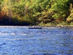 Picture of canoe on West Branch of Penobscot River.