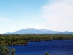 Photo of Mt Katahdin from the east. Scenic Look Out I-95N