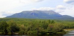 Photo of Mount Katahdin from Abol Bridge.